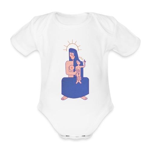 Vierge à l'enfant - Body Bébé bio manches courtes