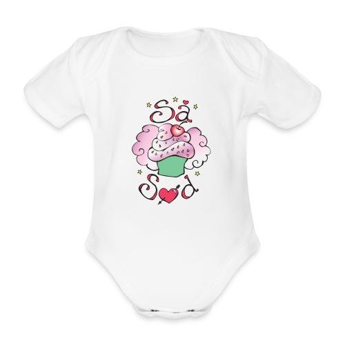 SÅ SØD - Kortærmet babybody, økologisk bomuld