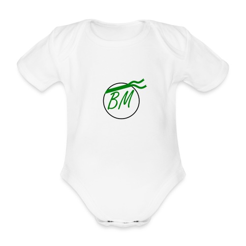 Braminer army logo - Organic Short-sleeved Baby Bodysuit