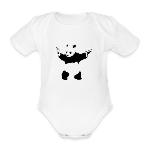 oso panda pistolas - Body orgánico de manga corta para bebé