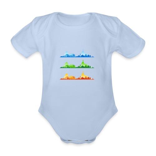 Rio de Janeiro Silhouette - Organic Short-sleeved Baby Bodysuit