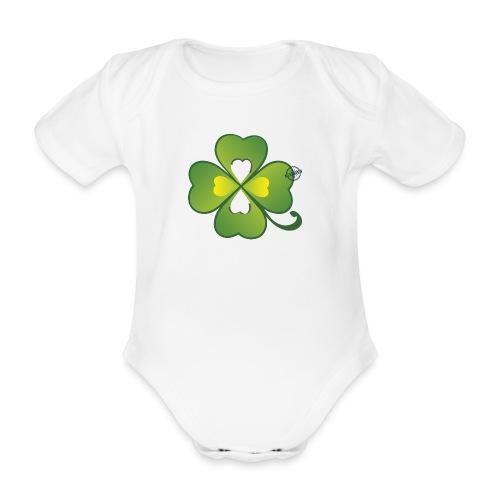 Clover - Symbols of Happiness - Organic Short-sleeved Baby Bodysuit