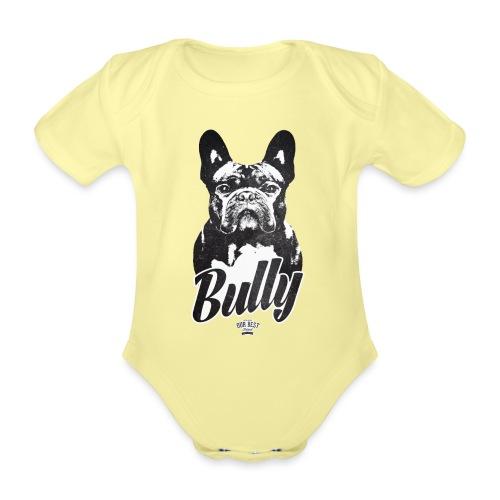 Bully - Französische Bulldogge Silhouette - Baby Bio-Kurzarm-Body