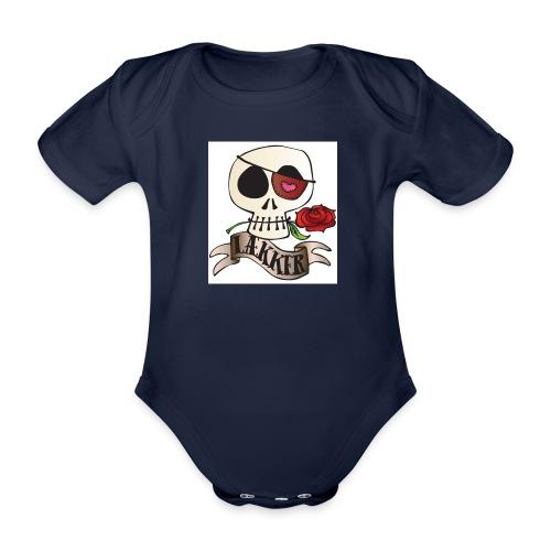 LÆKKER - Kortærmet babybody, økologisk bomuld