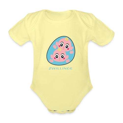 Tolles Geschenk für Zwillinge - Baby Bio-Kurzarm-Body