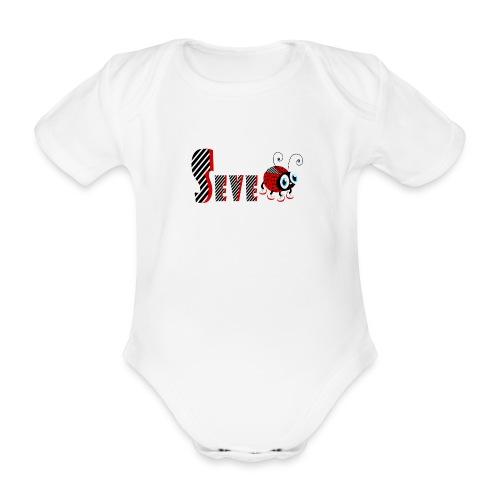 7. Jahr-Familien-Marienkäfer-T-Shirts Geschenk-Tochter - Baby Bio-Kurzarm-Body