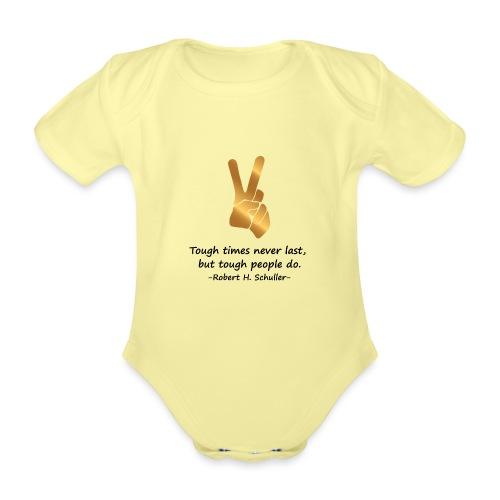 Tough People - Organic Short-sleeved Baby Bodysuit