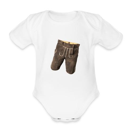 Lederhose - Baby Bio-Kurzarm-Body