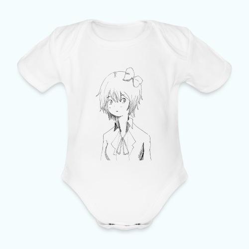 Cartoon girl - Organic Short-sleeved Baby Bodysuit