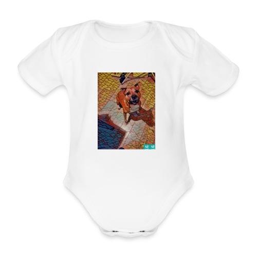 Foxy in kleur - Baby bio-rompertje met korte mouwen