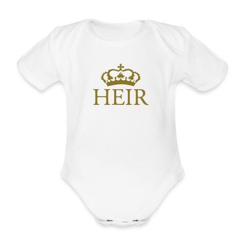 Gin O'Clock Heir Baby Vest - Gold Print - Organic Short-sleeved Baby Bodysuit
