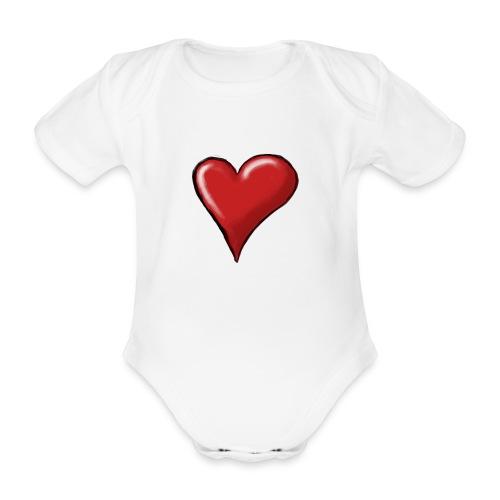 Love (coeur) - Body Bébé bio manches courtes