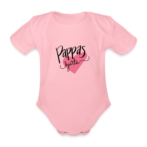 Pappas hjärta - Ekologisk kortärmad babybody