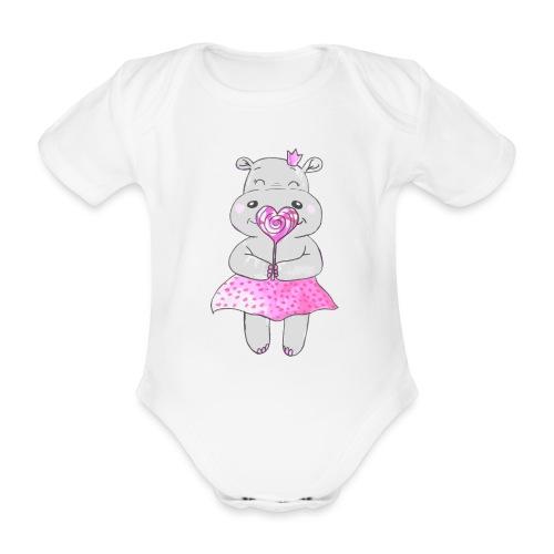 Happy Hippo - Baby Bio-Kurzarm-Body