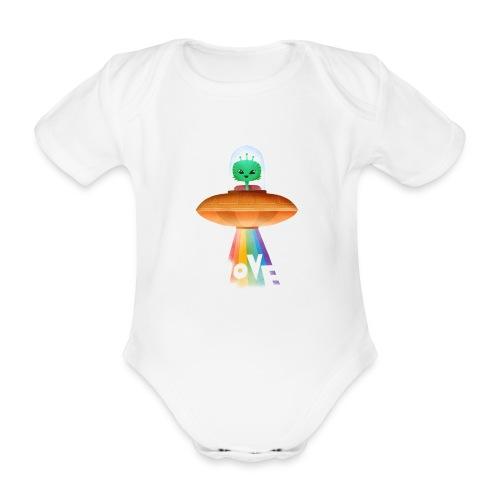 Beam up som love - Kortærmet babybody, økologisk bomuld