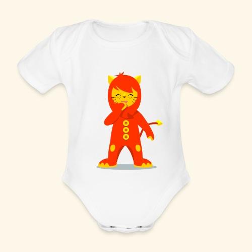 Nene León riendo - Body orgánico de manga corta para bebé
