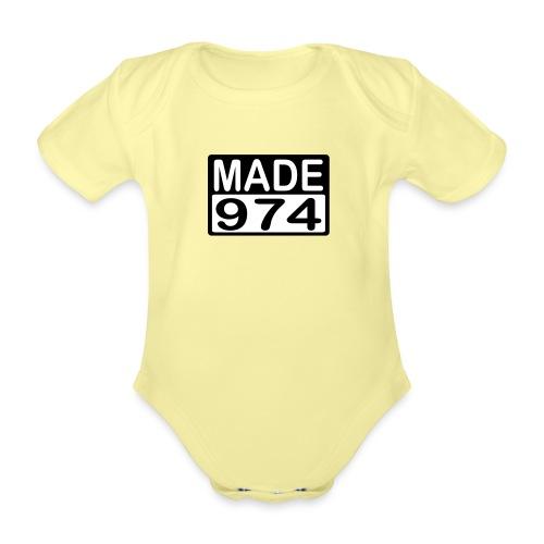 Made 974 - v2 - Body Bébé bio manches courtes