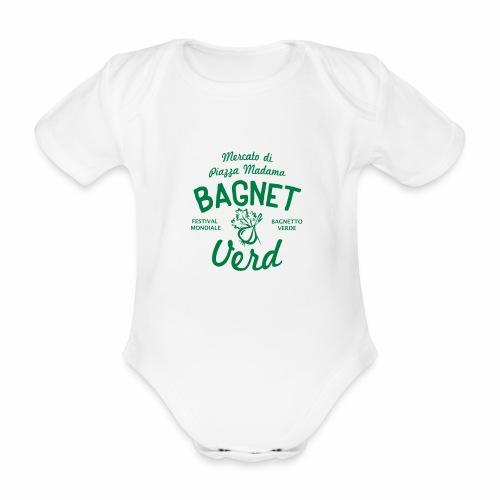 Festival Bagnetto verde2 - Body ecologico per neonato a manica corta