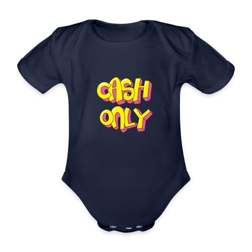 Cash only - Baby bio-rompertje met korte mouwen