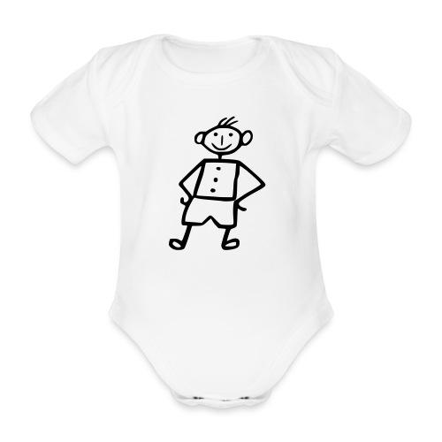 me-white - Baby Bio-Kurzarm-Body