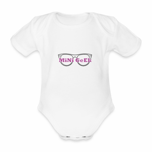 Mini geek version fille - Body bébé bio manches courtes