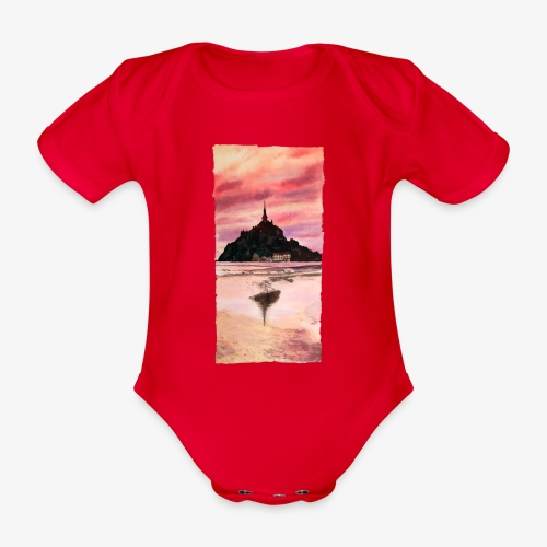 Mont St Michel - Organic Short-sleeved Baby Bodysuit