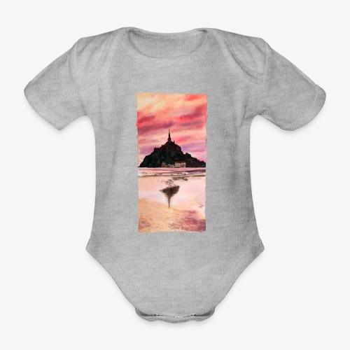 Mont St Michel - Organic Short-sleeved Baby Bodysuit