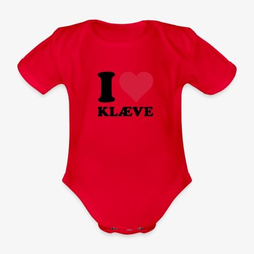 i love kleive - Økologisk kortermet baby-body