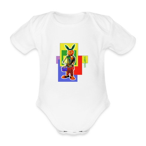smARTkids - Slammin' Rabbit - Organic Short-sleeved Baby Bodysuit
