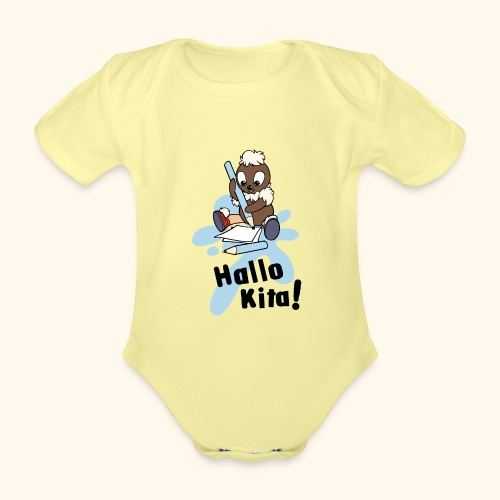 Pittiplatsch Hallo Kita! - Baby Bio-Kurzarm-Body