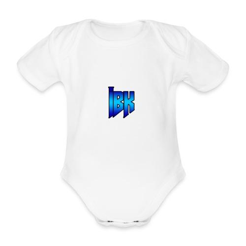T-SHIRT MET LOGO OP - Baby bio-rompertje met korte mouwen