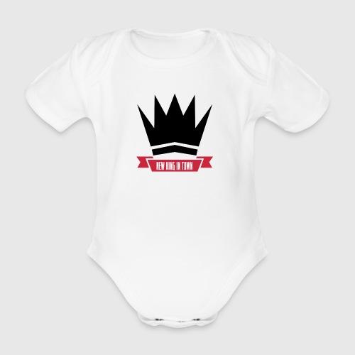 newking1 png - Kortærmet babybody, økologisk bomuld