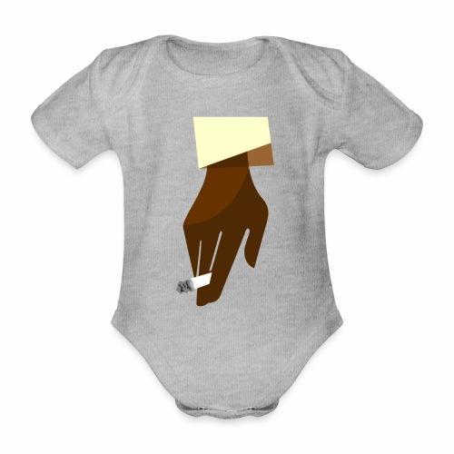 Hand mit Kippe - Baby Bio-Kurzarm-Body
