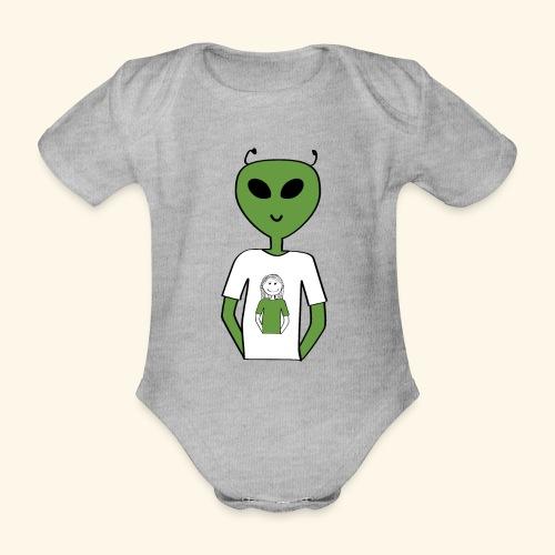 Alien human T-shirt T-shirt - Ekologisk kortärmad babybody