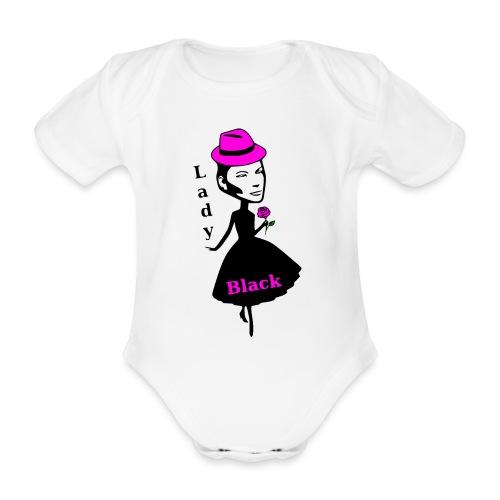 Lady Black Pink - Baby Bio-Kurzarm-Body
