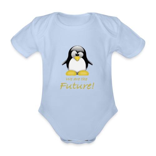 pinguin we are the future - Body ecologico per neonato a manica corta