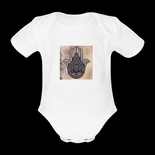 0fb3c3186e5803652adaa4a80715af22 - Baby bio-rompertje met korte mouwen