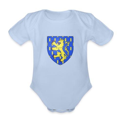 Blason de la Franche-Comté avec fond transparent - Body Bébé bio manches courtes