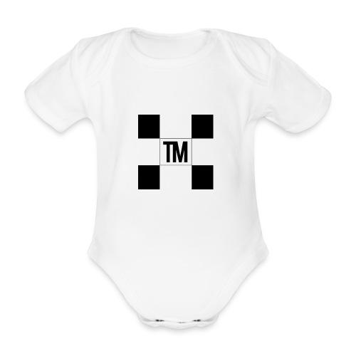 Checkered - Organic Short-sleeved Baby Bodysuit