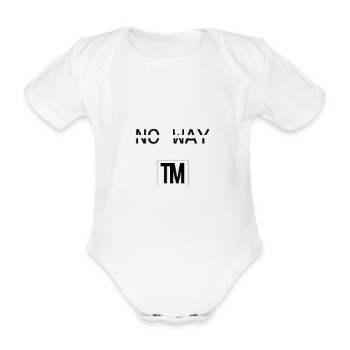 NO WAY - Organic Short-sleeved Baby Bodysuit