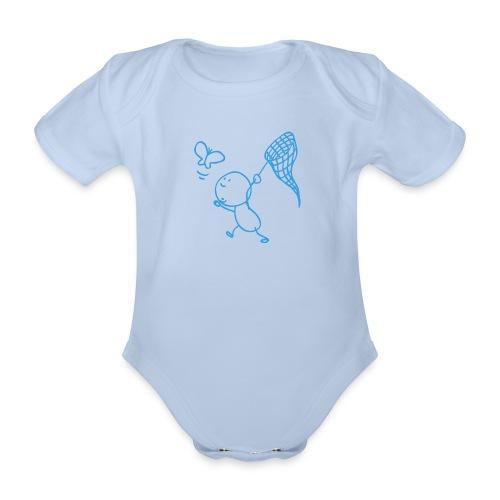 vlindervangen - Baby bio-rompertje met korte mouwen