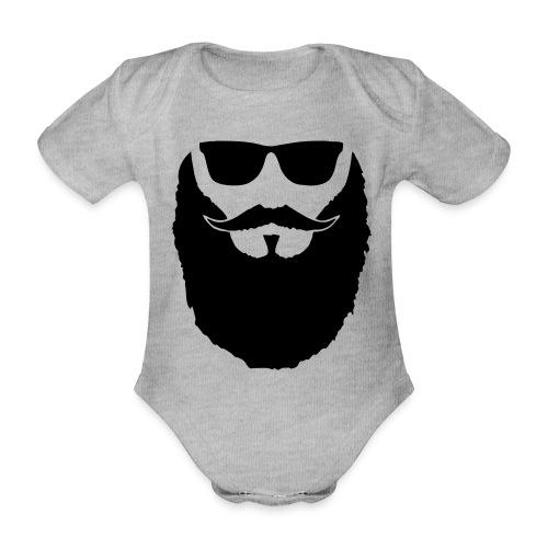 Hipster beard glasses - Body Bébé bio manches courtes