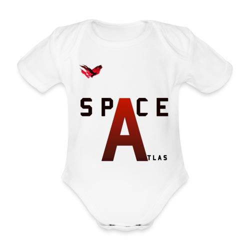 Space Atlas Baseball Long Sleeve Capital A - Kortærmet babybody, økologisk bomuld