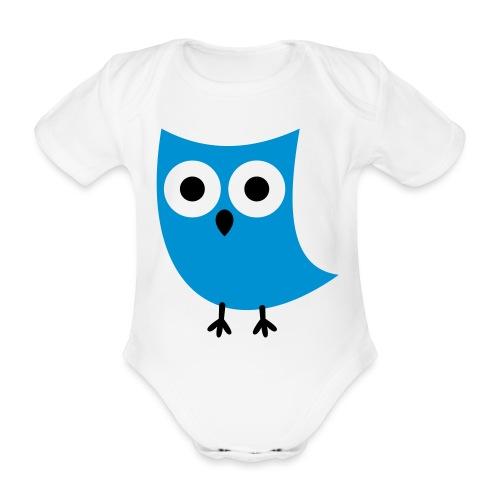 Uiltje - Baby bio-rompertje met korte mouwen