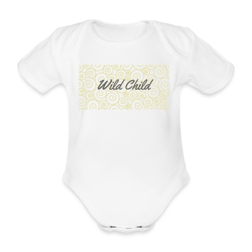 Wild Child 1 - Organic Short-sleeved Baby Bodysuit