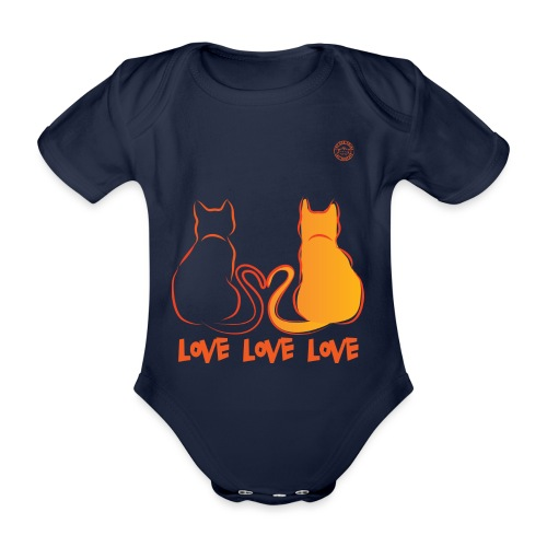 The Red Twins LOVE LOVE LOVE - Body ecologico per neonato a manica corta
