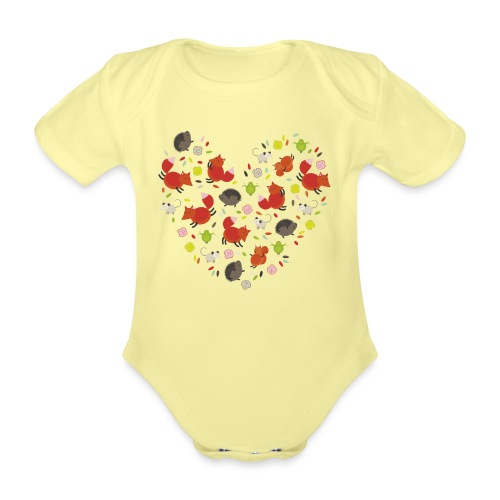 Metikössä - Vauvan lyhythihainen luomu-body