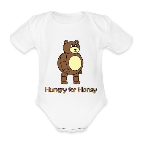 Bär - Hungry for Honey - Baby Bio-Kurzarm-Body