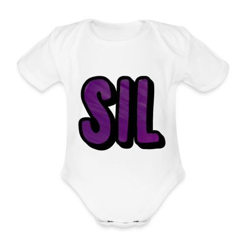 SIL LOGO - Baby bio-rompertje met korte mouwen
