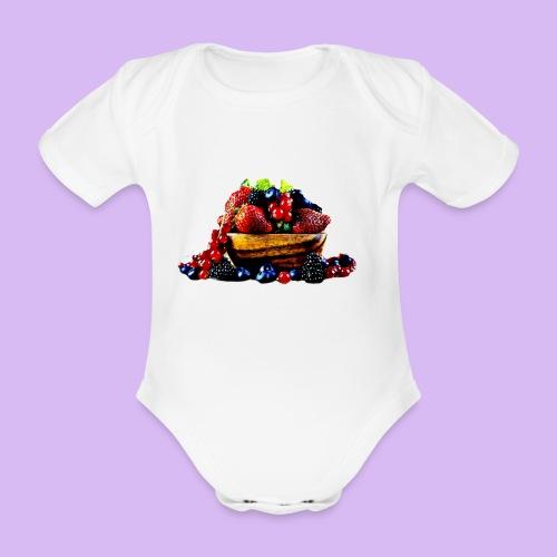frutti di bosco - Body ecologico per neonato a manica corta